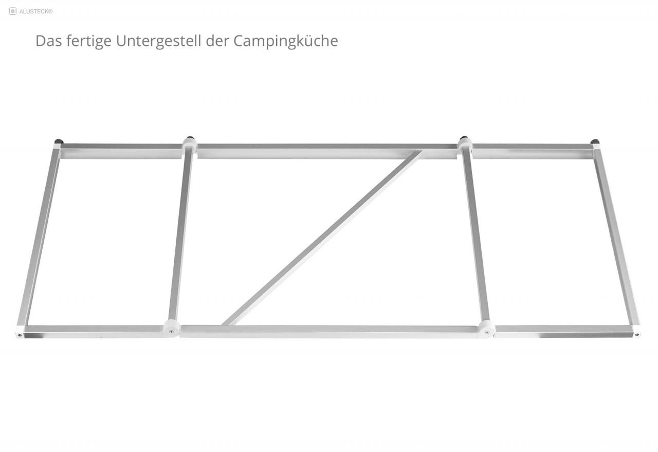 Campingküche selber bauen Untergestell fertig