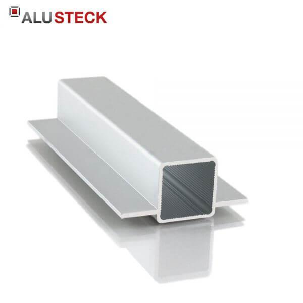 Aluprofil 25x25x1,5mm 2 Stege 15mm gegenüber: Quadratrohr 6m Lagerlänge