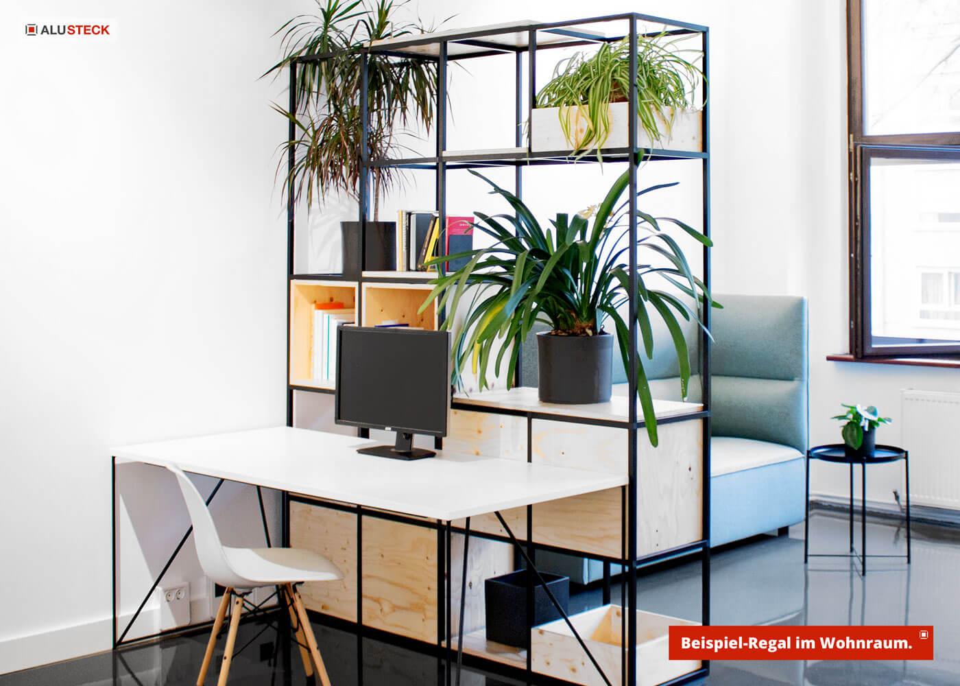 Regal selber bauen - Schöner wohnen mit Holzregal oder Aluregal - Möbel Metall / Holz
