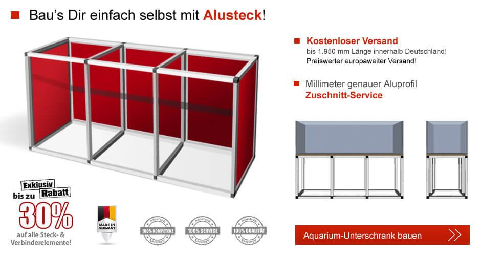 aquarium unterschrank bauen mit alusteck. Black Bedroom Furniture Sets. Home Design Ideas