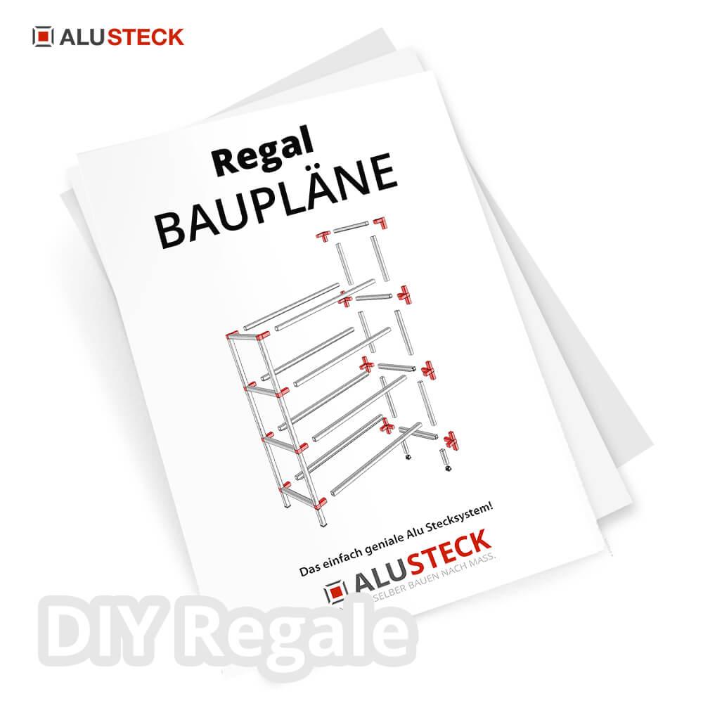 Regal Bauplan Baupläne mit ALUSTECK®