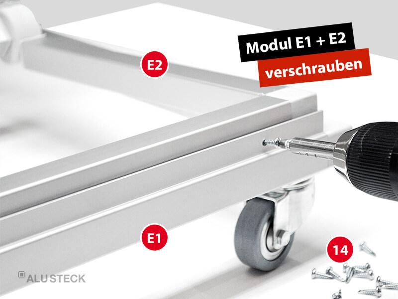 plattenwagen-selber-bauen-endmontage-bauanleitung-schritt-3-2-modul-E1-modul-E2-verschrauben