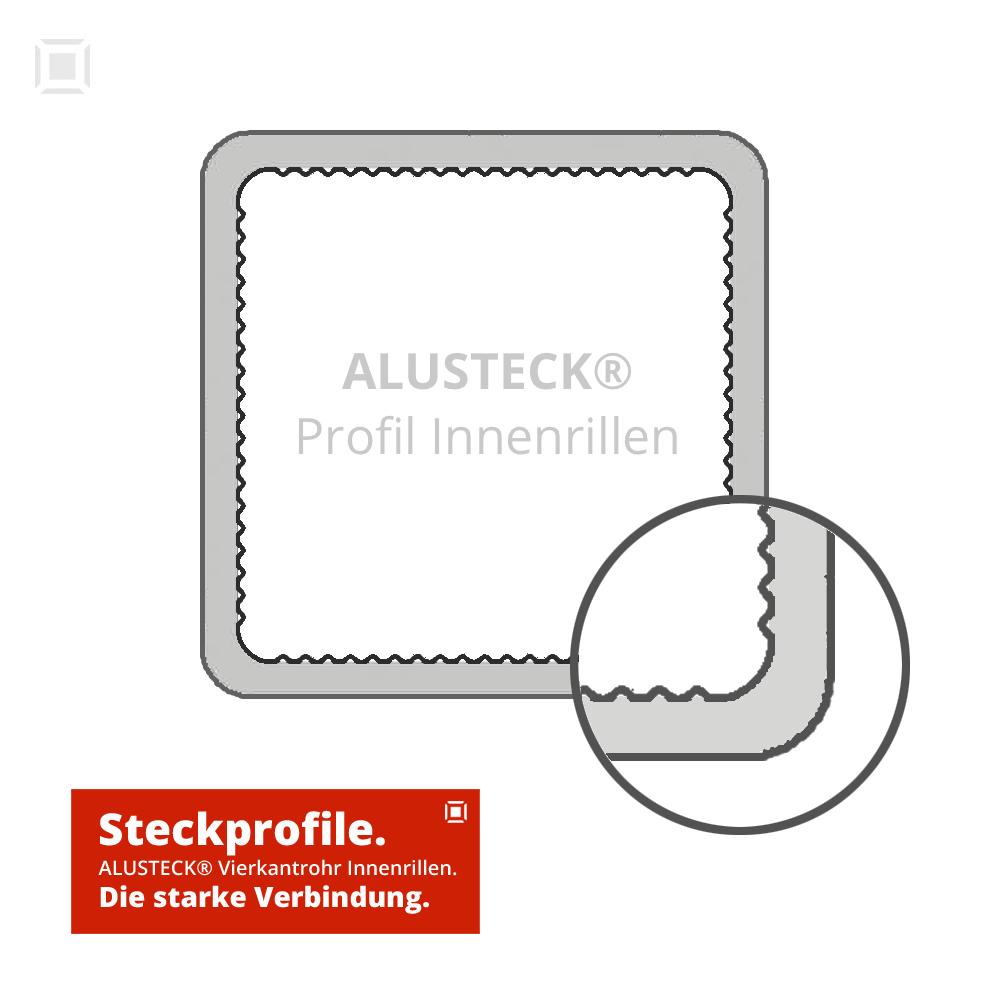 Alu Steck Profil Vierkantrohre 25 x 25 mm Onlineshop