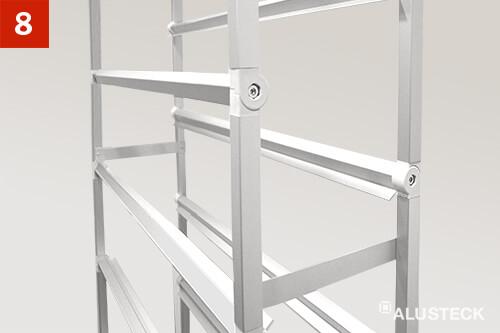 Schritt 8: Ansicht Regalkonstruktion zusammengebaut
