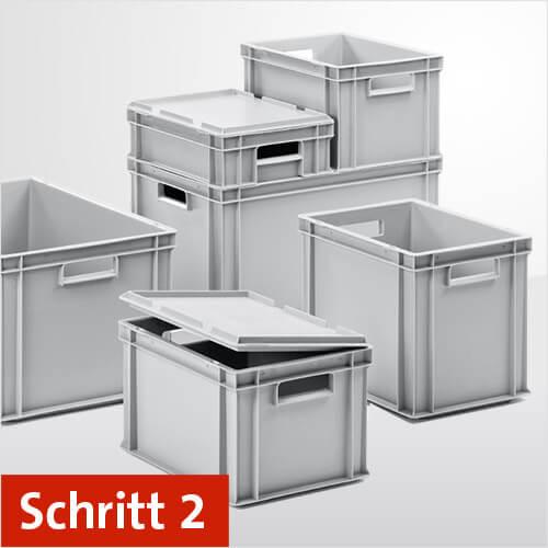 Schritt 2: Die richtige Wahl der Euroboxen und Regal-Behälter beim selber bauen