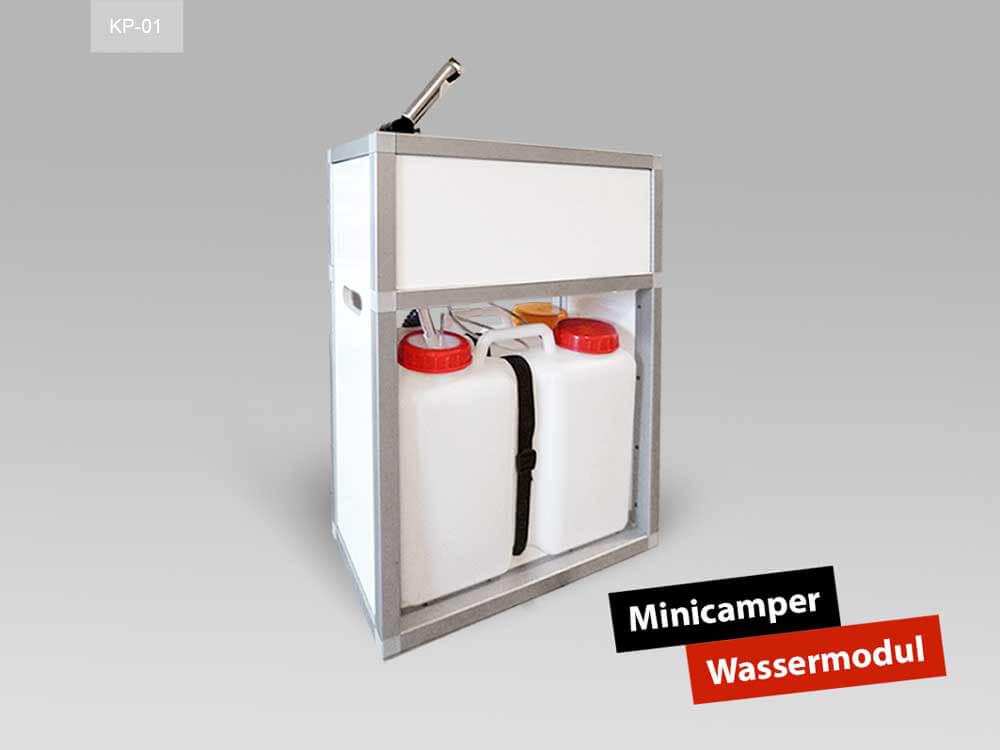 Wassermodul für den Minicamper Fahrzeugausbau