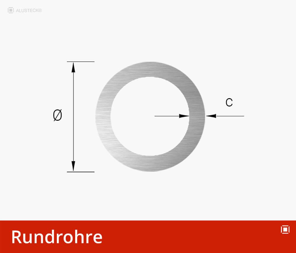Rundrohre Aluminium Profile - Alu Rohre rund Alurohre