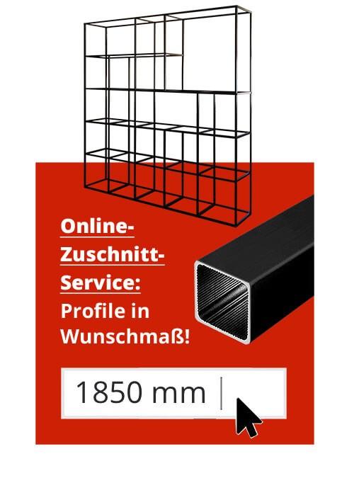 Raumteiler / Trennwand-System Aluminium Alusteck Zuschnitt-Service USP