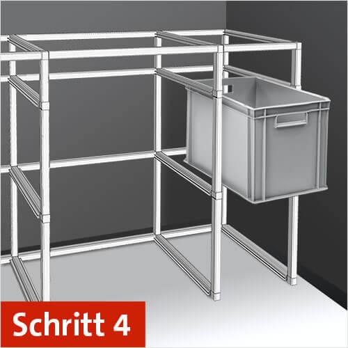 Schritt 4: Anleitung zur Montage und Aufbau des Anhänger Regal-Systems