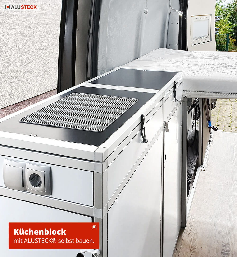 Mercedes Basisfahrzeug Selbstausbau Umbau Campingbox Modul Küchenblock