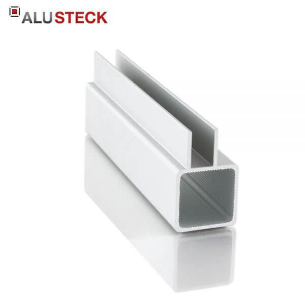 Aluprofil 25x25x1,5mm 1 Doppelsteg 15mm: Quadratrohr 6m Lagerlänge