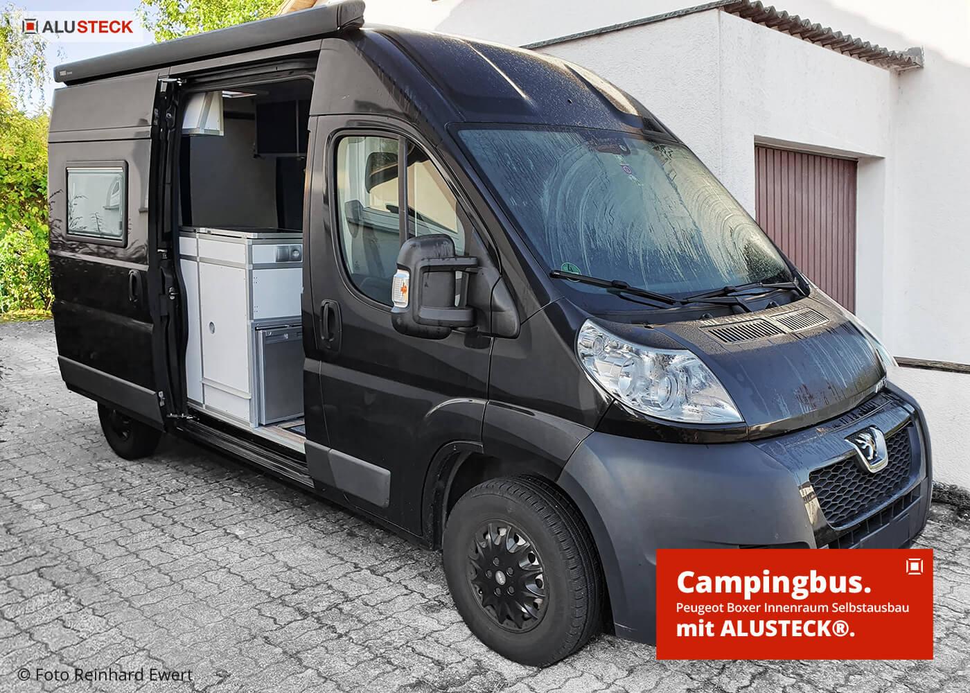 Wohnmobil Camper Peugeot Boxer Ausbau - Innenausbau mit ALUSTECK®