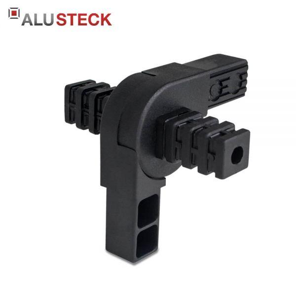 Gelenkverbinder 25x25mm - 0-190° Öffnungswinkel / 2 Abgänge kaufen - Rohrverbinder Gelenk