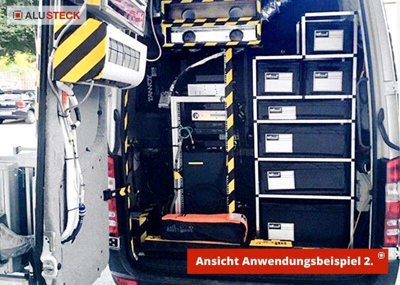 Fahrzeugausbau Nutzfahrzeuge Werkstattwagen Regal Regalsystem Ausbau Beispiel
