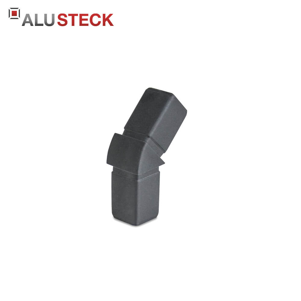 rohrverbinder eckverbinder 8 eck verbinder 135 winkel 20x20mm vierkantrohr steckverbinder. Black Bedroom Furniture Sets. Home Design Ideas