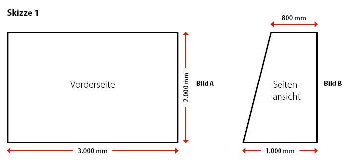 Fussballtor selber bauen Bauzeichnung 1