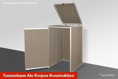 Tonnenhaus Alu Korpus-Konstruktion
