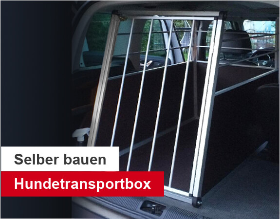 hundetransportbox selber bauen anleitung auto hundebox alusteck. Black Bedroom Furniture Sets. Home Design Ideas
