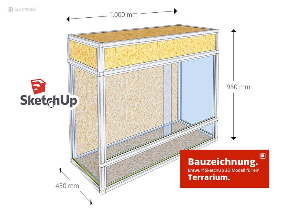 Terrarium Bauzeichnung