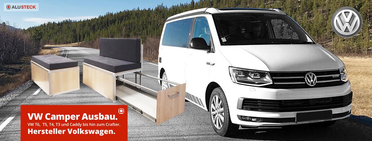 VW T5, T4, T3, Caddy, Crafter zum Camper selber ausbauen
