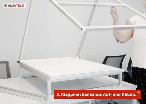 Fototisch klappbar - Klappmechanismus für Aufbau und Abbau Schritt 3