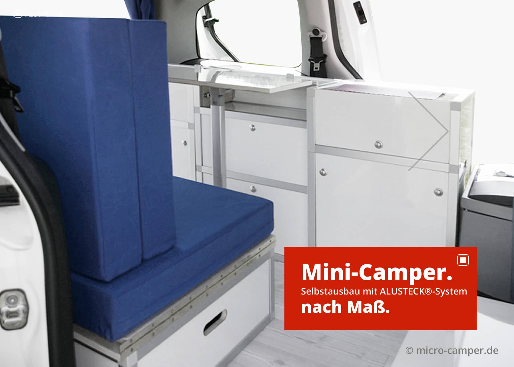 Mini Camper Ausbau Auf 2 5 M Diy Selbstausbau Alusteck