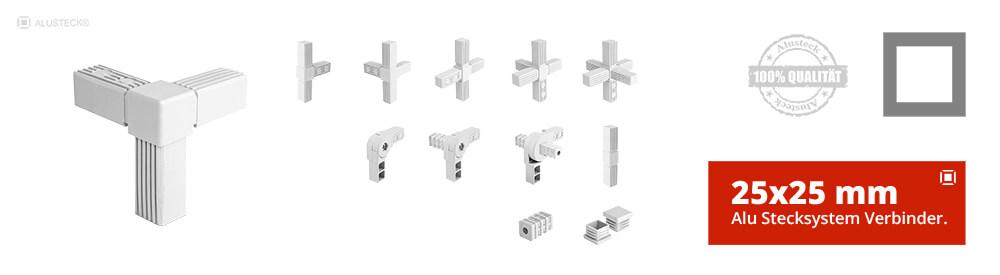 Steckverbinder Rohrverbinder Vierkantverbinder 25x25mm Stecksystem  Onlineshop kaufen