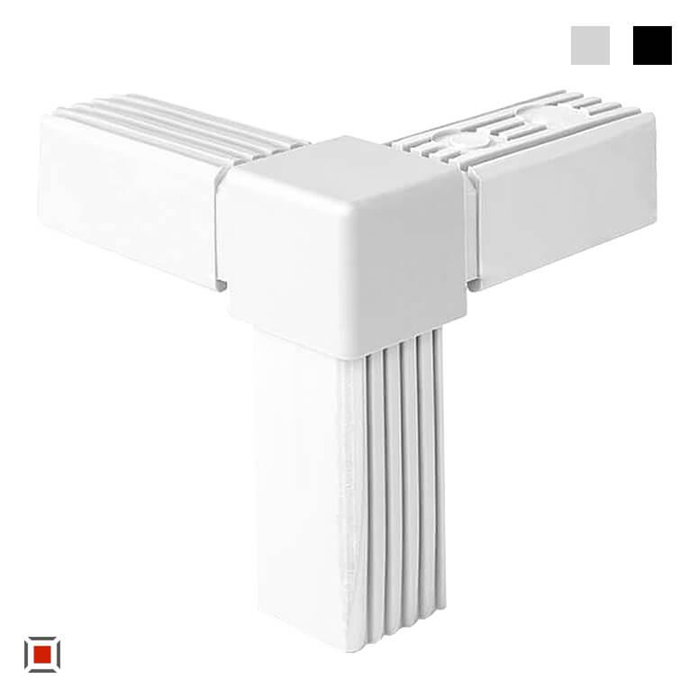 Alu Stecksystem Steckverbinder rechter Winkel 1 Abgang 25 mm 3D3V25-X1-5MK