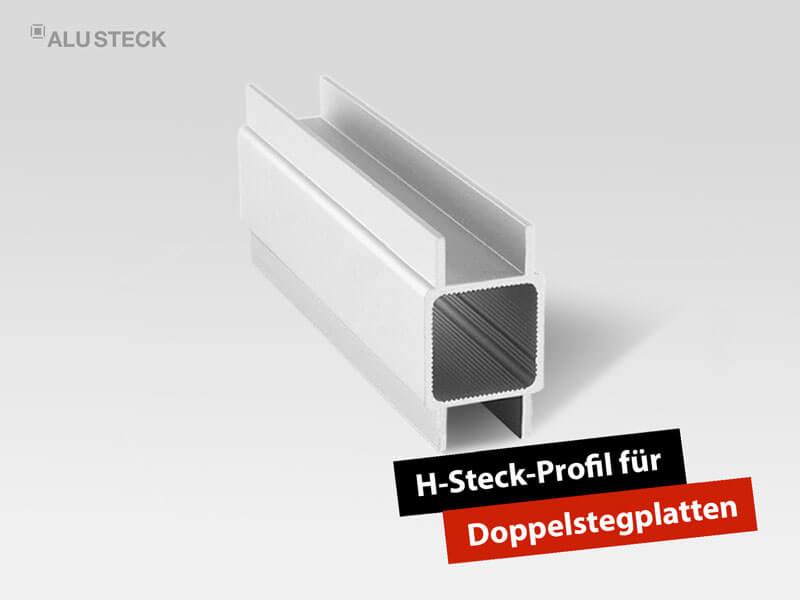 Terrassendach selber bauen - Eindeckung mit Aluminium H-Profil und Hohlkammer Doppelstegplatten