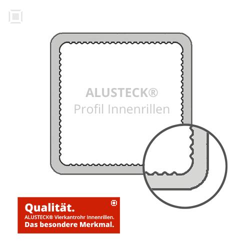 Alu Stecksystem 25x25 Profile mit Innenrillen bei ALUSTECK® kaufen