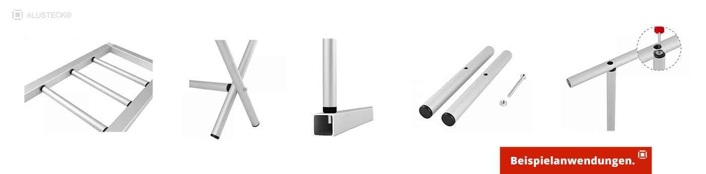 Rohrverbinder - Verbinder für Rundrohre - Kunststoff Rundrohrverbinder Anwendungsbeispiel