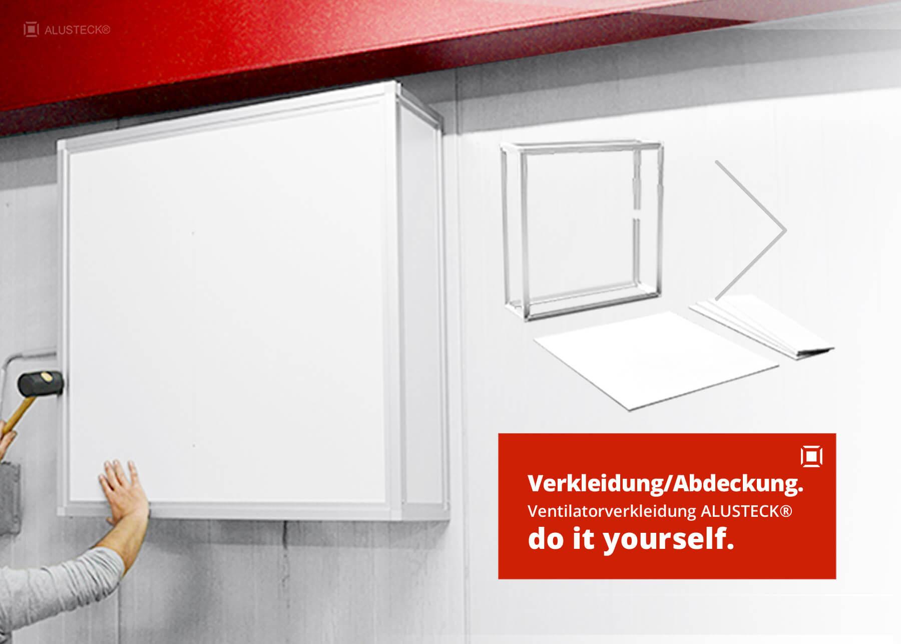 Verkleidung / Abdeckung bauen: ALUSTECK® do it yourself