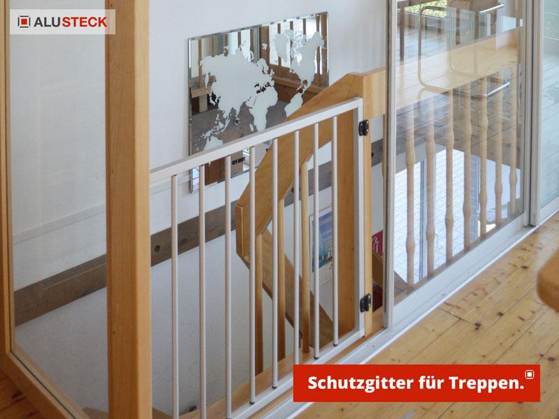 Treppenschutzgitter bauen