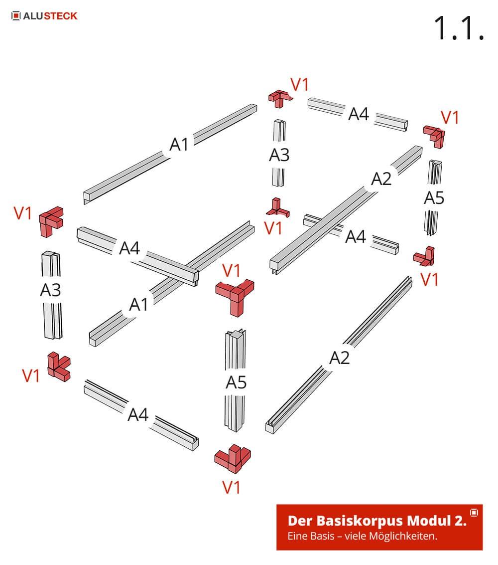 Bauanleitung Aufbau Camperbox Korpus Modul-2 Explosionszeichnung