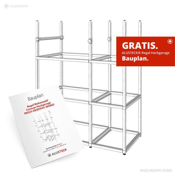 Bauplan Regal Wohnmobil Heckgarage