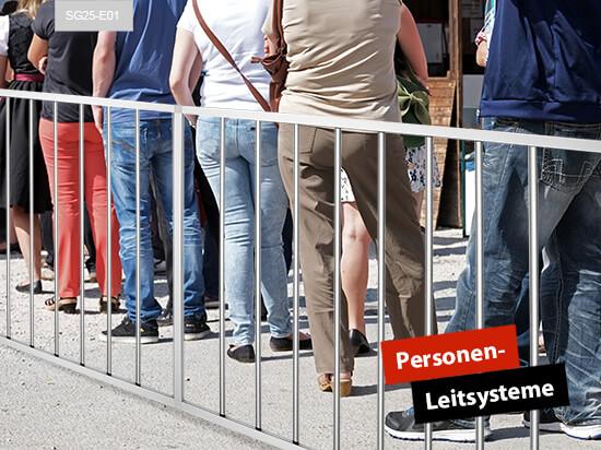 Personenleitsysteme Absperrung Gitter