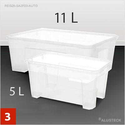 3. Schritt: Die passenden Behälter wählen