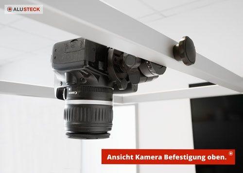 Aufnahmestisch bauen Anwendungsbeispiel Kamerastativ Befestigung Ansicht 2