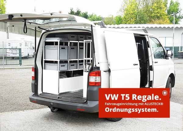 VW T5 Fahrzeugeinrichtung Transporter Volkswagen Handwerker selber bauen Regalsystem Ordnungssystem Anleitung
