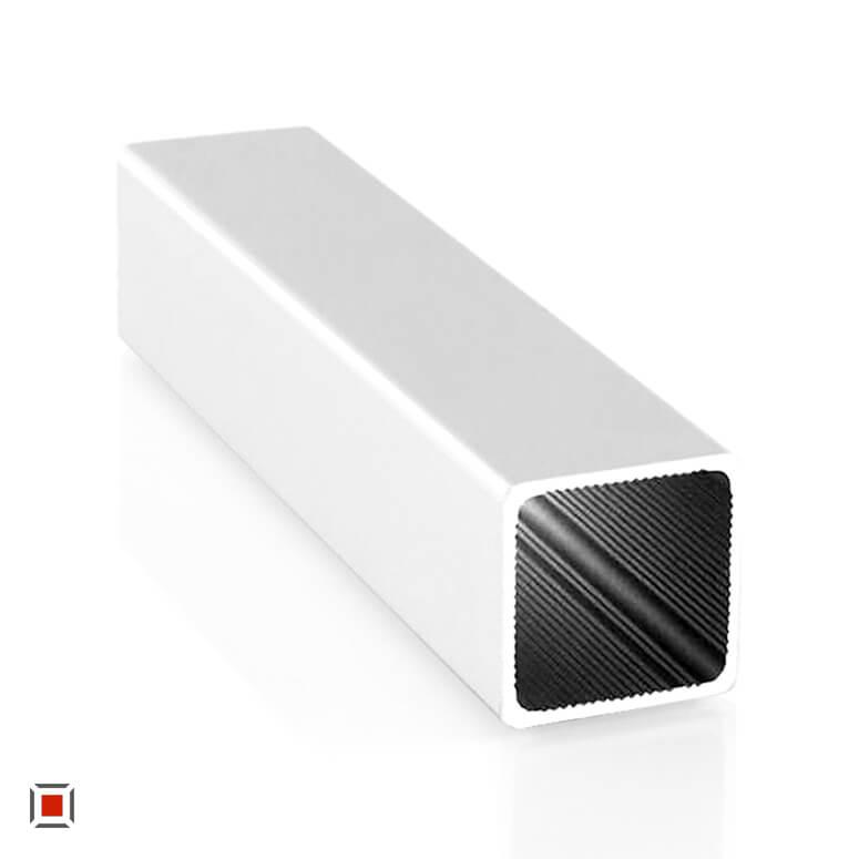 Alu Vierkantrohr silber eloxiert 25 x 25 x1,5 mm ALUSTECK® Quadratrohr R-V25-SI