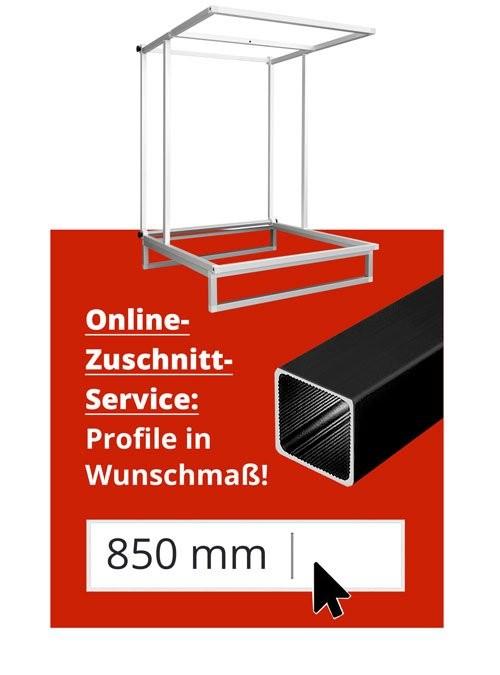 Fototisch TableTop - Aufnahmetisch Stecksystem Aluminium - ALUSTECK® Zuschnitt-Service