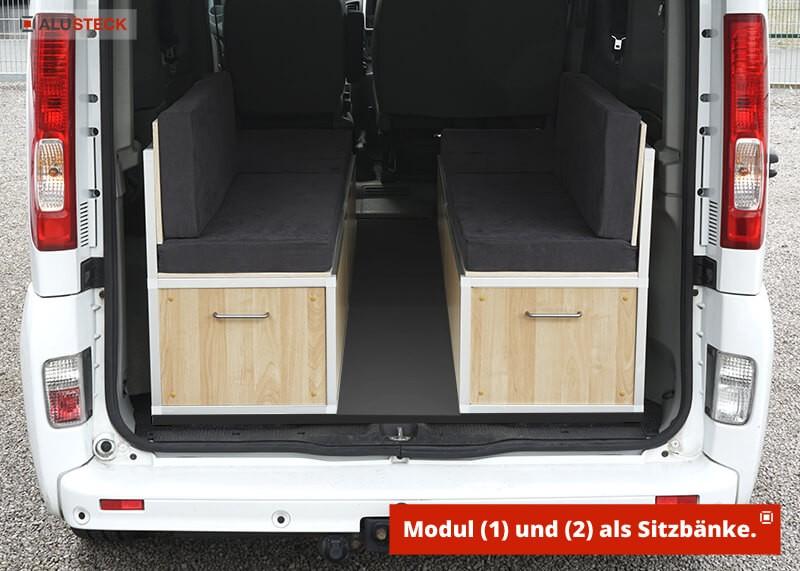Camperbox / Campingbox / Camper-Box - integriert als Sitzbänke inklusive Stauraum