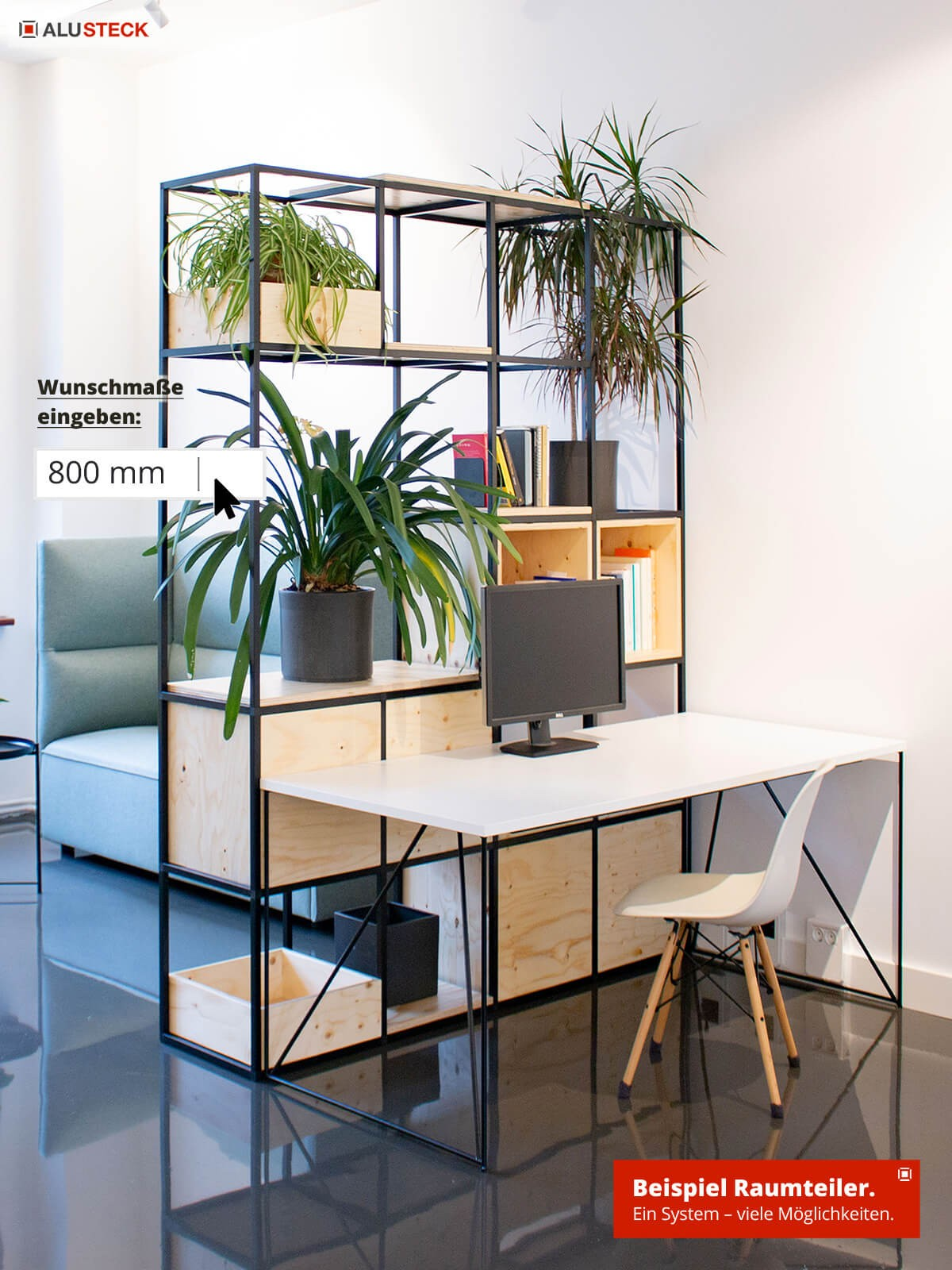 Raumteiler selber bauen - Trennwand Bauanleitung Wohnraum Paravent Ausführungen