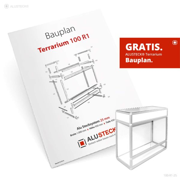 Terrarium Bauplan 100-R1-25