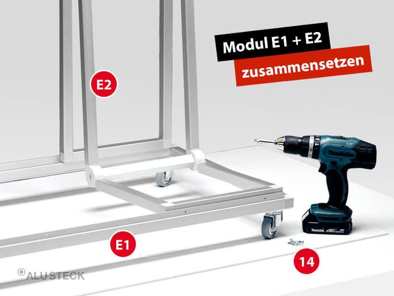 plattenwagen-selber-bauen-endmontage-bauanleitung-schritt-3-1-modul-E1-modul-E2-zusammensetzen