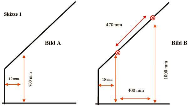 Maße nehmen beim Regal selber bauen für die Dachschräge