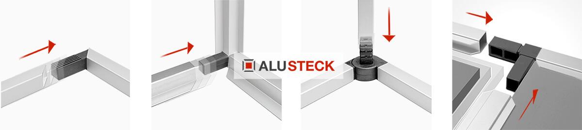 Aluminium Mülltonnenverkleidung do it yourself Zusammenbau Alu Stecksystem
