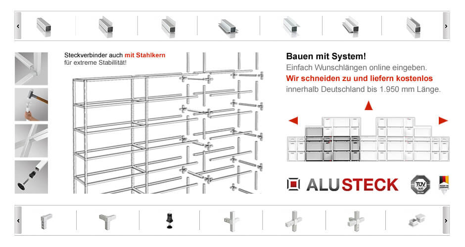 Alu Baukastensysteme