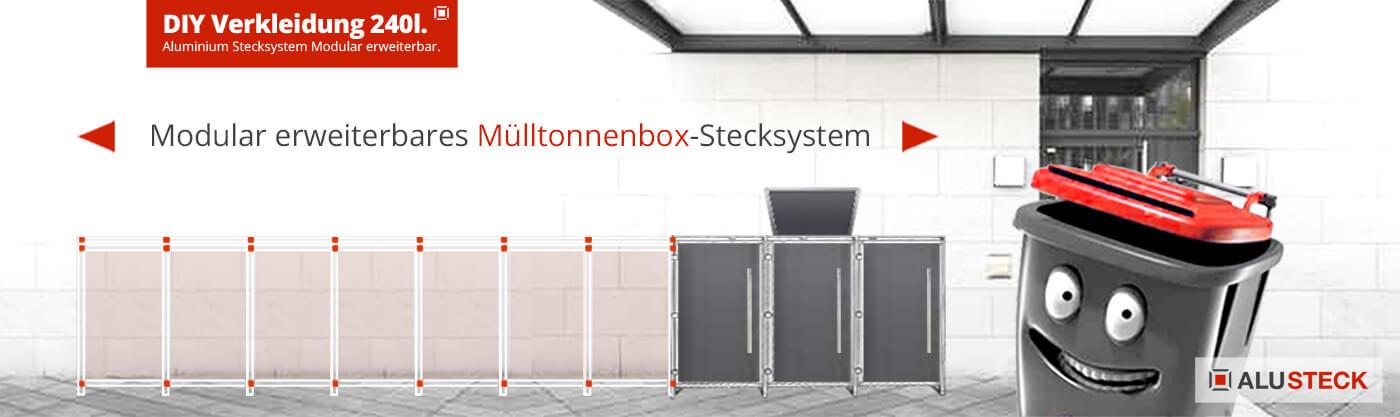 Mülltonnenbox 1er, 2er, 3er, 4er, 5er Mülltonnen verkleiden Mehrfamilienhaus Bauanleitung bauen