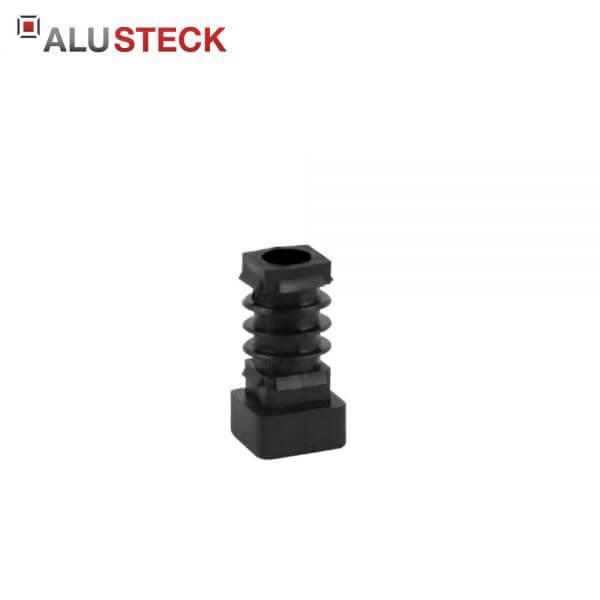 Gewindestopfen: Verschlussstopfen mit Gewinde M10 schwarz - Abschlussstopfen 20x20mm Quadratrohre
